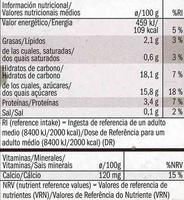 Postre de soja con chocolate - Información nutricional - es