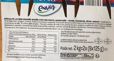 Recette crémeuse aux morceaux fruits - Ingrediënten - fr