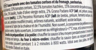 Tomato sauce - Ingrediënten