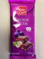 Chocolate Frutos Secos - Producto