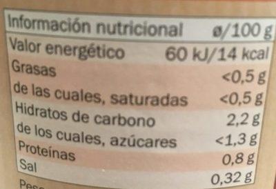 Tomates Pelées Tranchées - Información nutricional