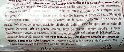 Kex Roll Raspberry & Vanille biscuits - Ingredients - fr