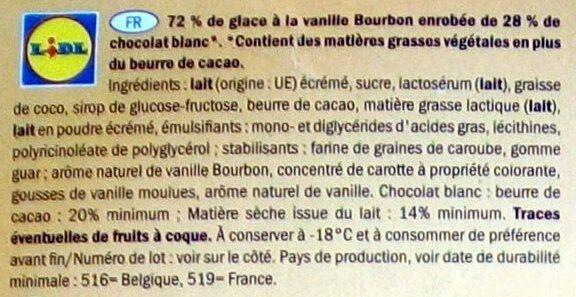 Gelatelli White - Ingrediënten - fr