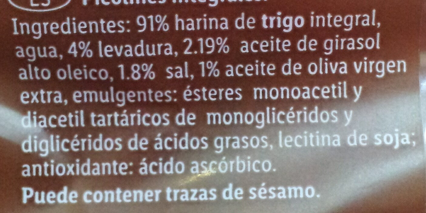 Picos integrales - Ingredientes - es