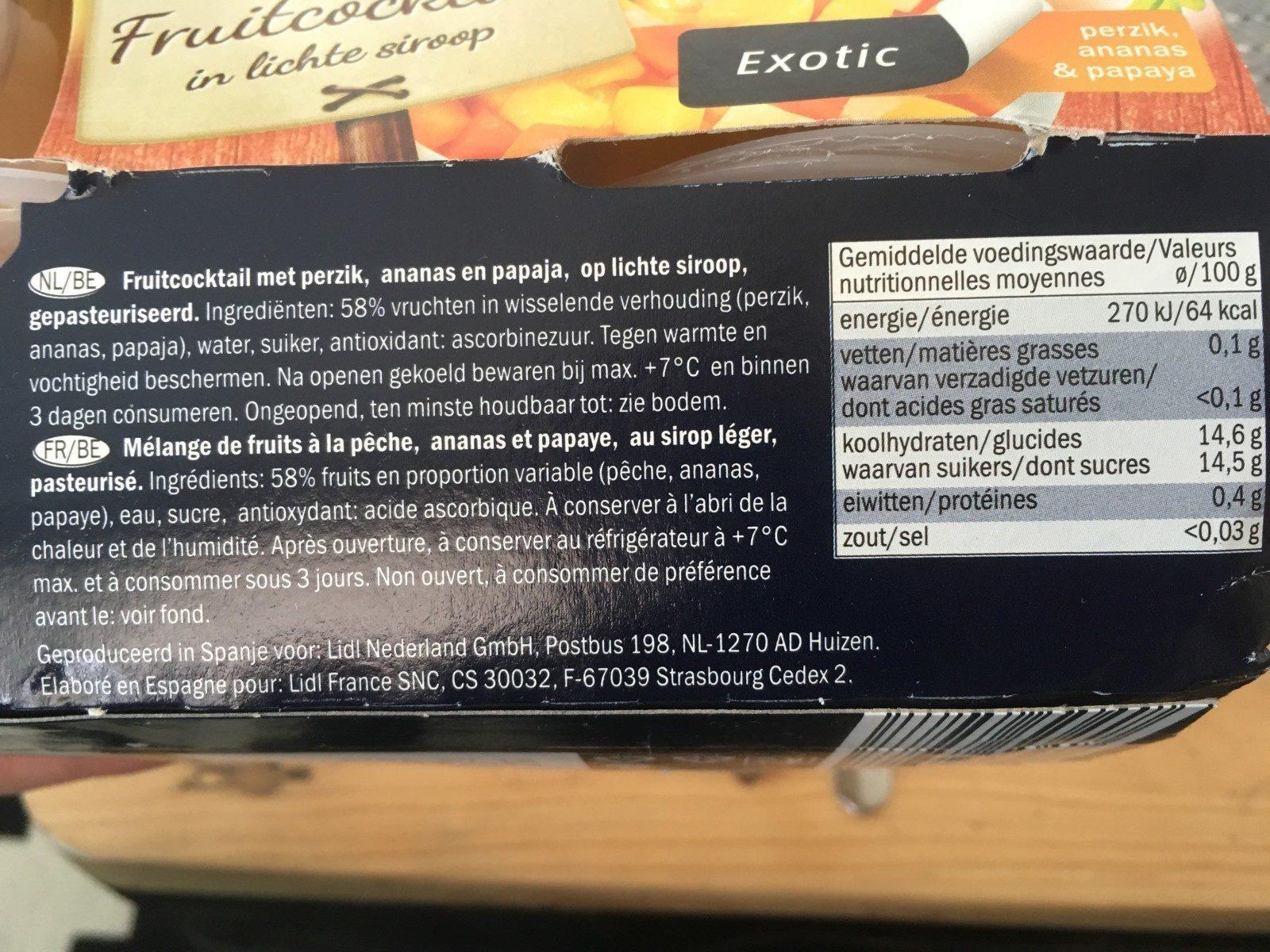 Salade de fruits exotiques Harvin - Ingrediënten