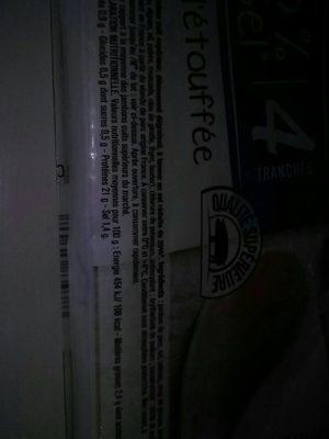 Jambon supérieur (-25 % de sel) - Voedingswaarden
