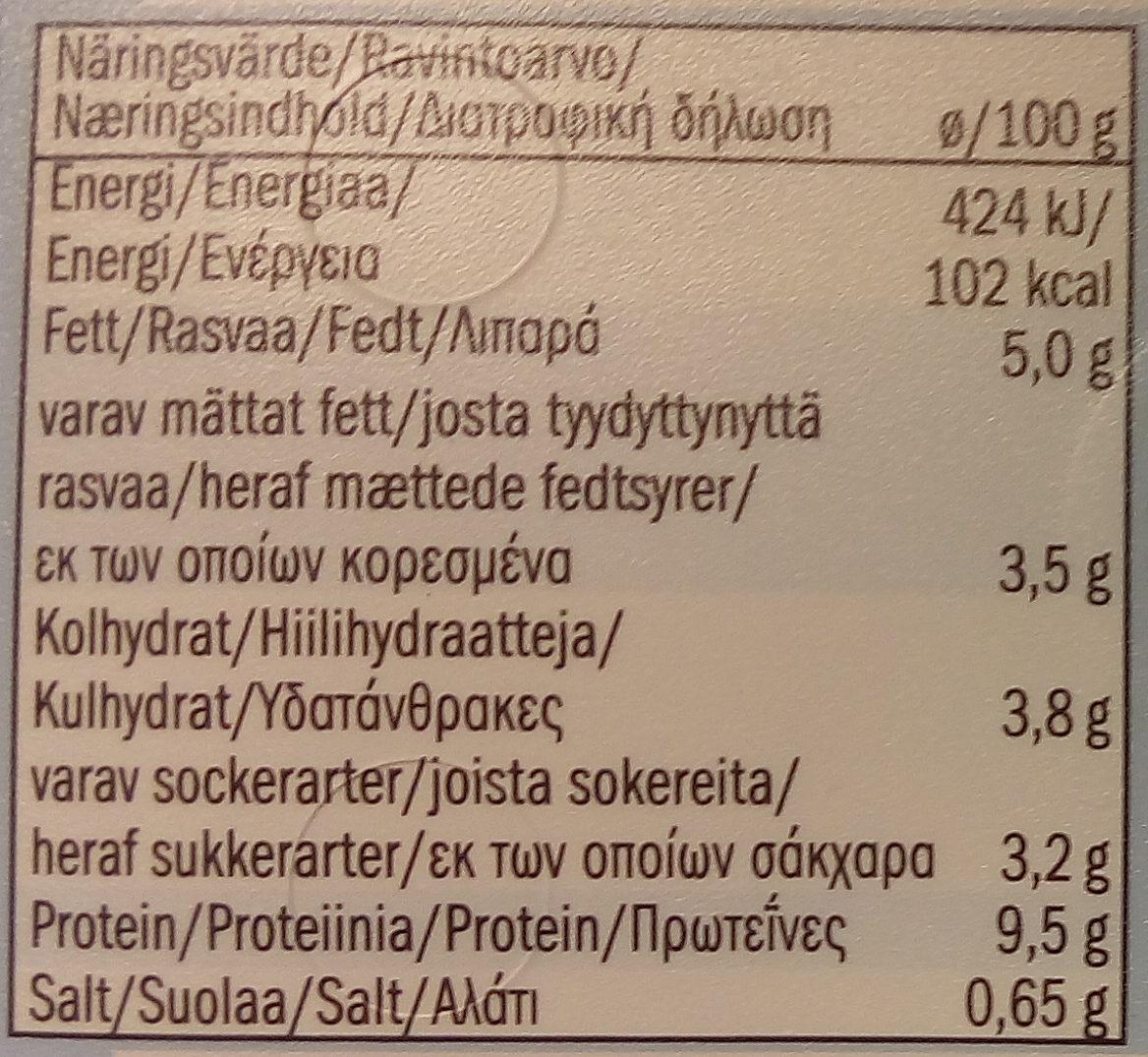 Goldessa soft cheese light - Informations nutritionnelles