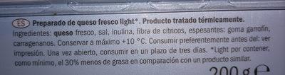 Goldessa Queso fresco light - Ingredientes