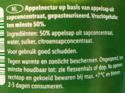 Solevita Appelnectar - Ingredients - nl