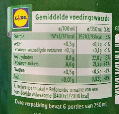 Solevita Appelnectar - Nutrition facts - nl