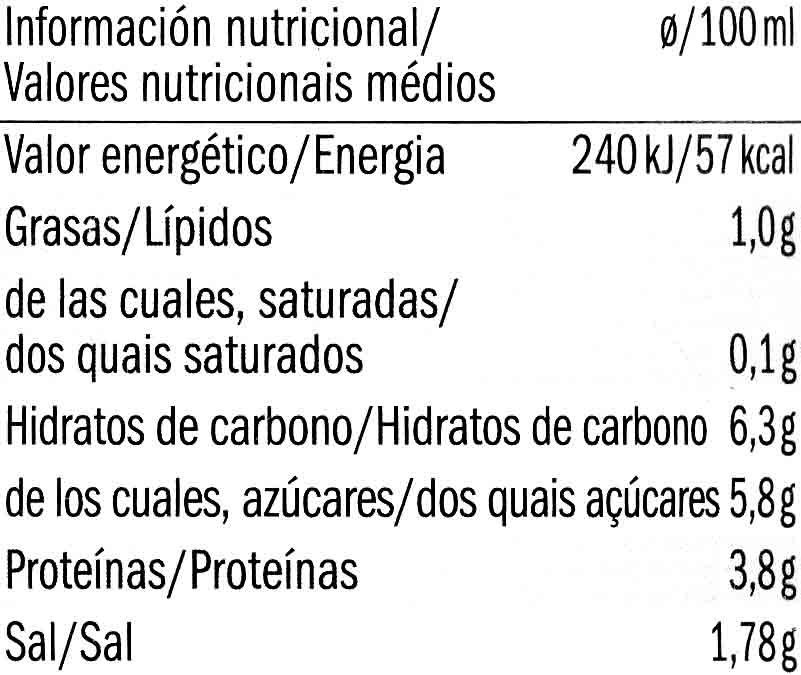 Salsa de tomate boloñesa vegetariana Bio - Nutrition facts