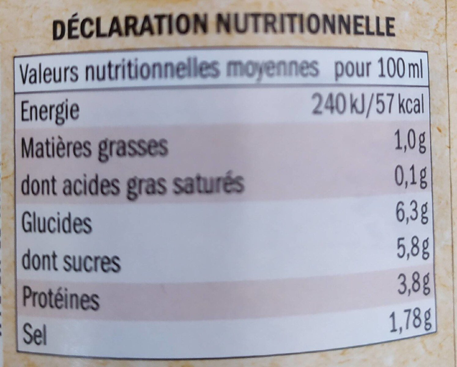 Salsa de tomate boloñesa vegetariana Bio - Información nutricional - es