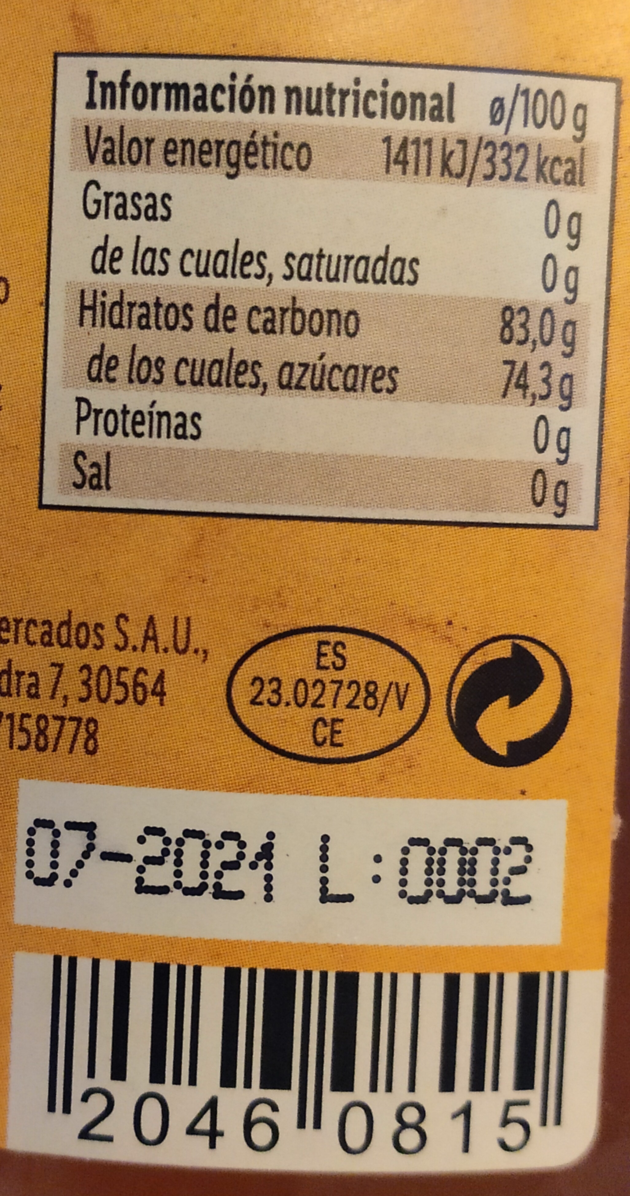 Miel - Ingredientes - es