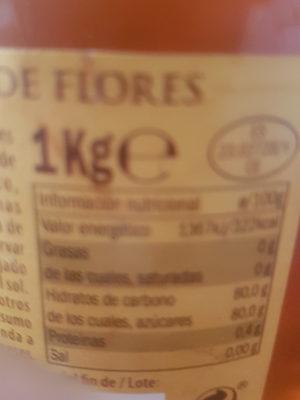 Miel - Información nutricional - fr