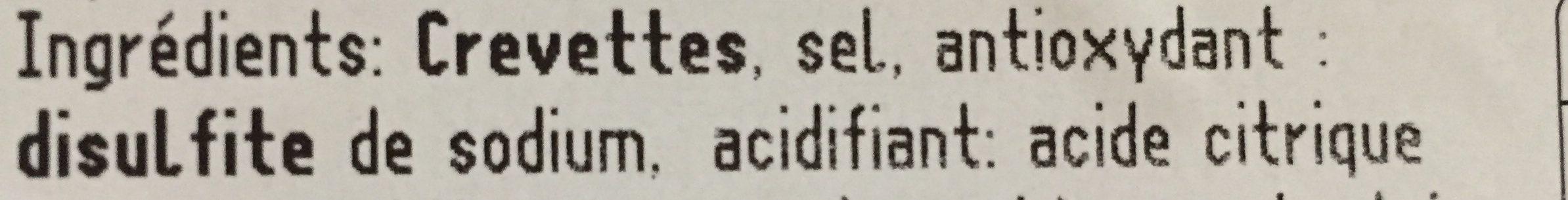 Crevettes 60/80 - Ingrediënten - fr