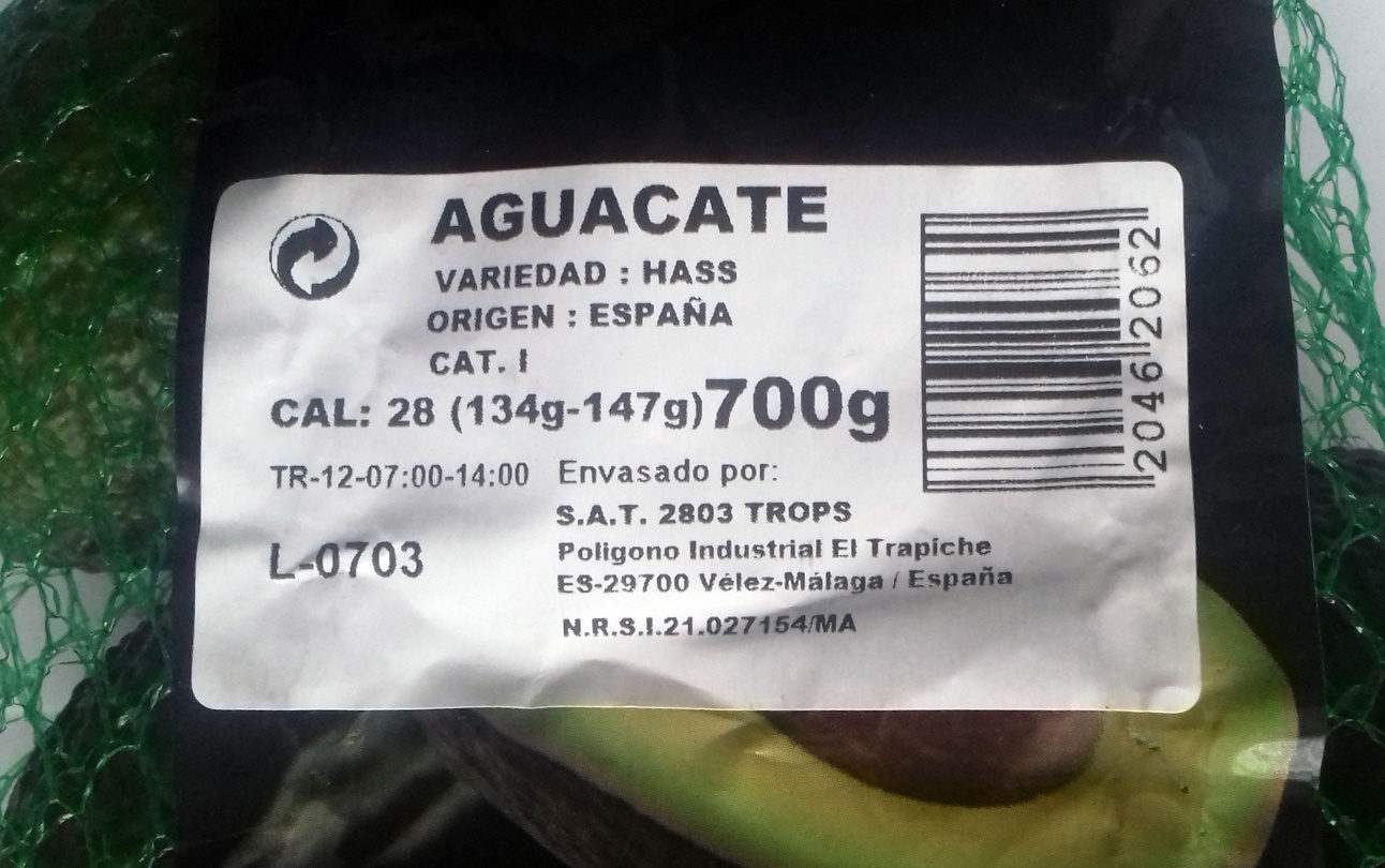 Aguacate - Produkt