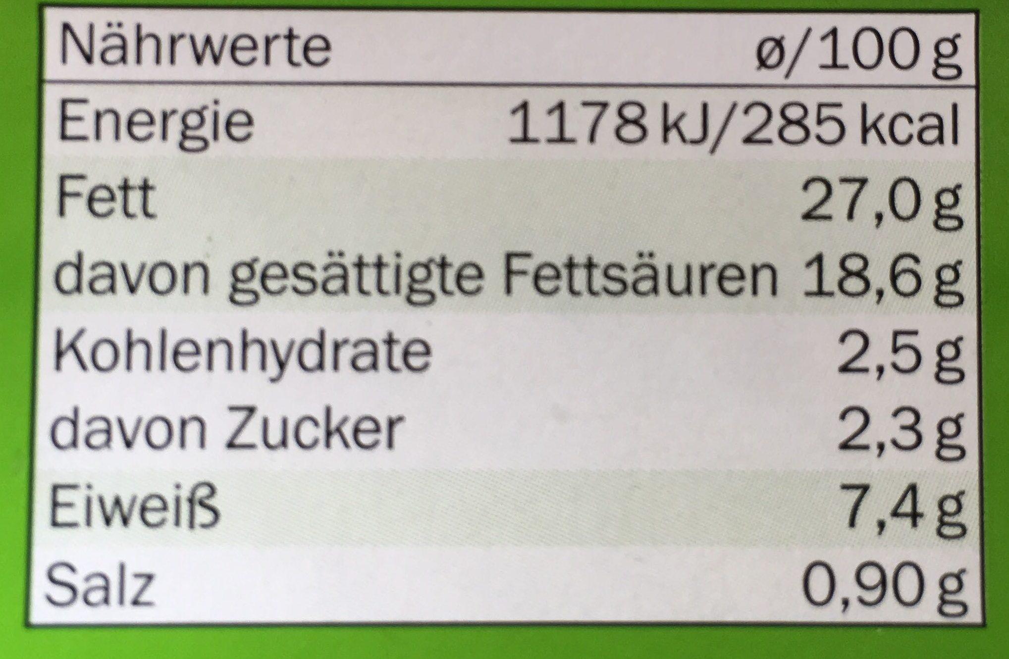 Schnittlauch Gartenfrisch - Nutrition facts