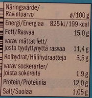 Milbona Soft Cheese Spread with Herbs - Nutrition facts