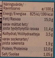 Milbona Soft Cheese Spread with Herbs - Nährwertangaben