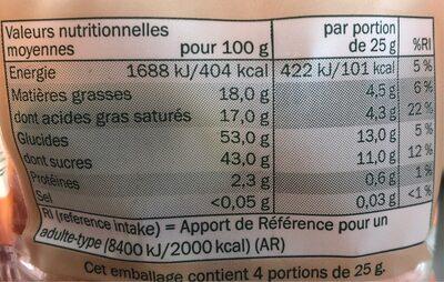 Mélange de Fruits Séchés - Informations nutritionnelles - fr