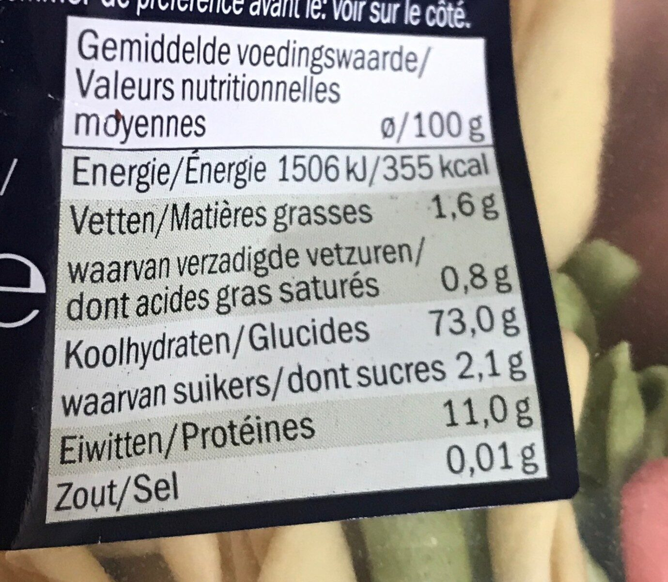 Italiamo Fusilli Pugliesi Tris - Nutrition facts - de
