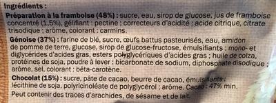 Génoises framboise - Ingrédients