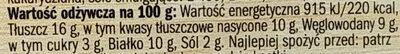 Gouda - ser topiony kremowy - Informations nutritionnelles - pl