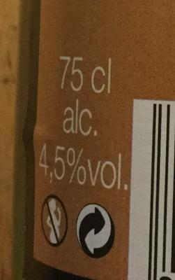 Cidre brut - Voedingswaarden - fr