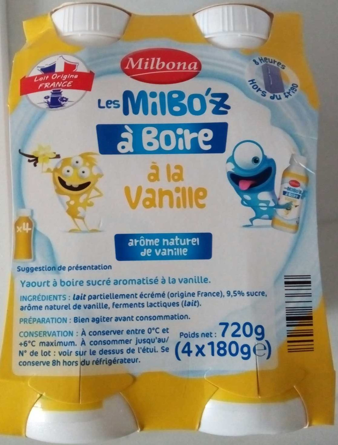 Les Milbo'z à Boire à la Vanille - Produit - fr