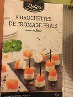 9 brochettes de fromage frais - Product