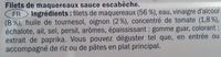 Filets de maquereaux à l'escabèche - Ingrédients - fr