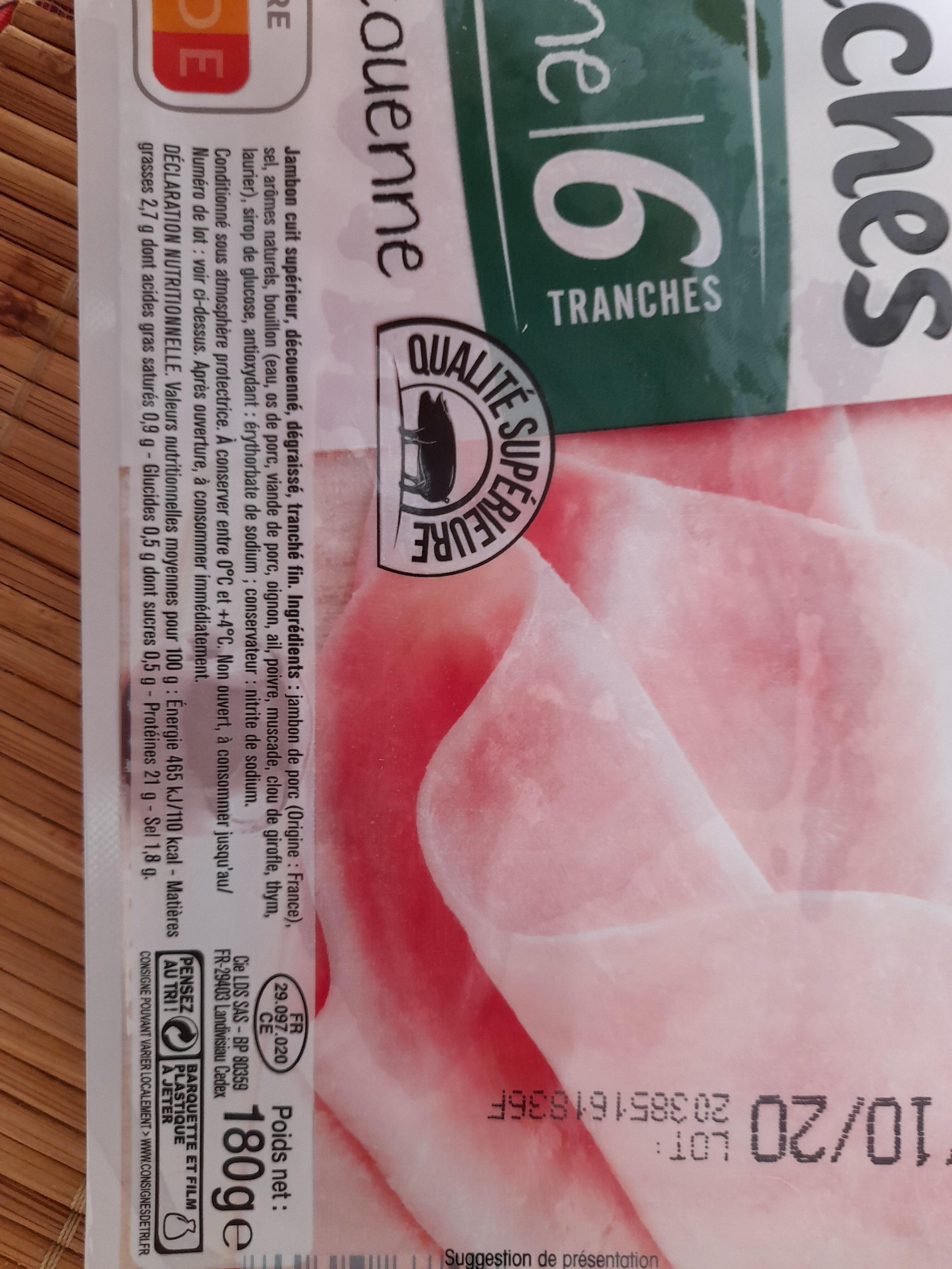 Fines tranches à l'italienne - Ingrediënten - fr