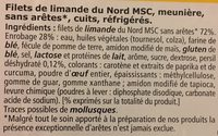 Filets de limande du Nord meunière - Ingredients
