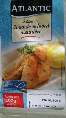 2 Filets de Limande du Nord Meunière - Produit - fr
