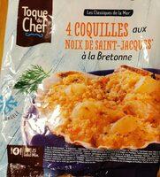 4 Coquilles aux noix de saint Jacques à la bretonnes - Product - fr