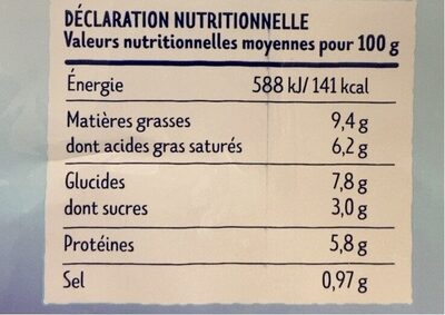 4 Coquilles aux noix de saint Jacques à la bretonnes - Nutrition facts - fr