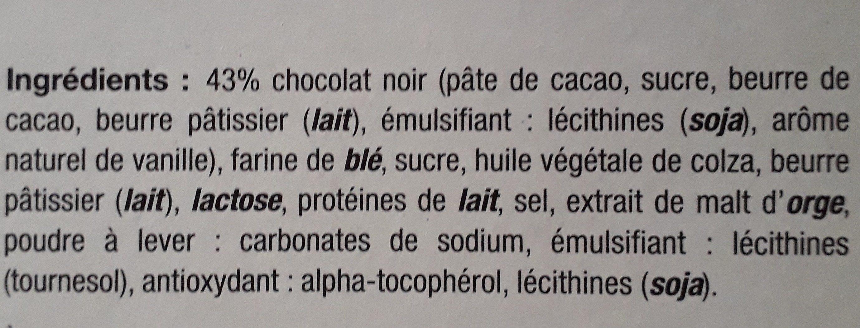 Crêpes dentelle Chocolat noir - Ingredients - fr