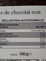 Crêpes dentelle Chocolat noir - Nutrition facts - fr