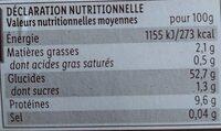 Tagliatelles les pâtes fraîches aux œufs frais - Informations nutritionnelles - fr