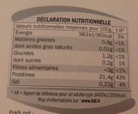2 pavés de kangourou marinés au vin rouge et épices Deluxe - Informations nutritionnelles - fr