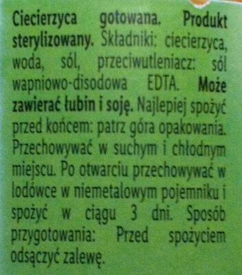 Pois Chiches - Składniki - pl