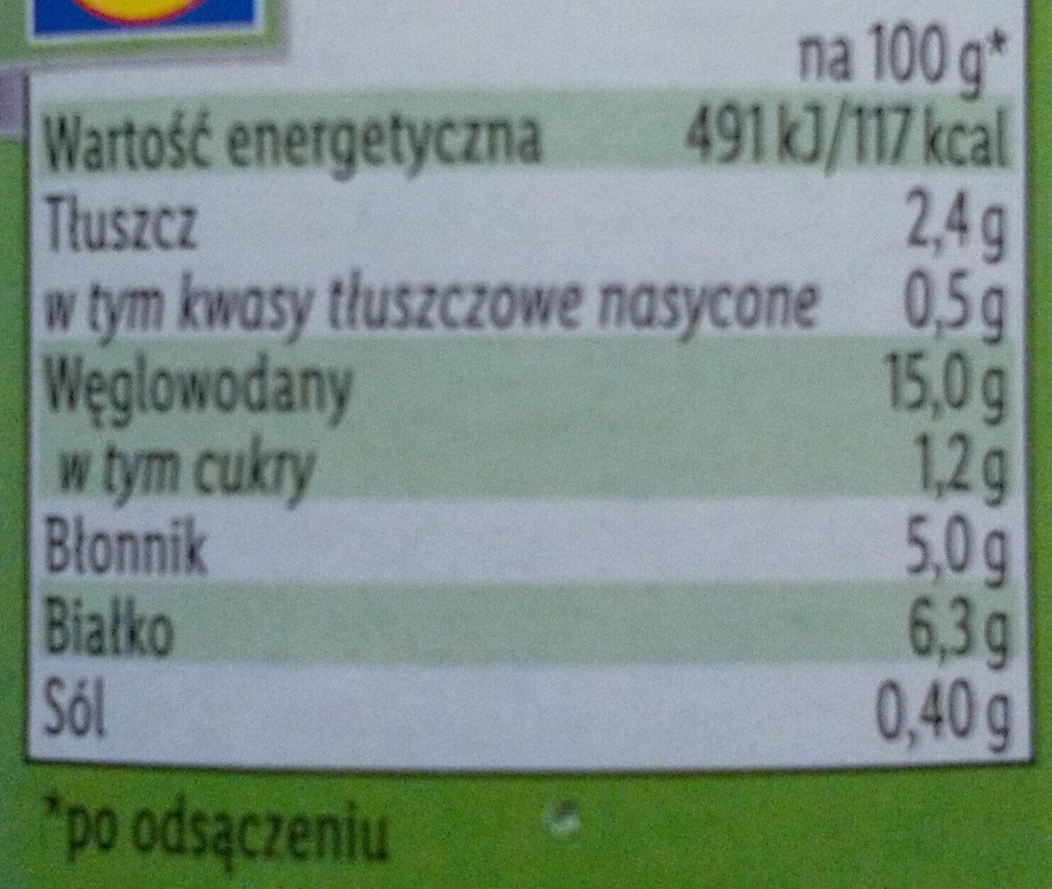 Pois Chiches - Wartości odżywcze - pl