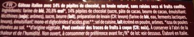 Panettone Cioccolato - Ingredients - fr