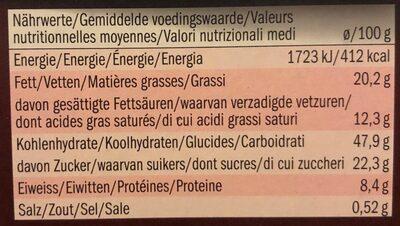 Panettone Cioccolato - Informations nutritionnelles - fr
