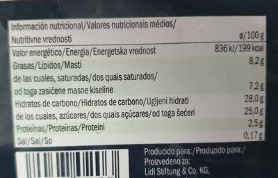 Mini vaschetta gelato - Nutrition facts - es