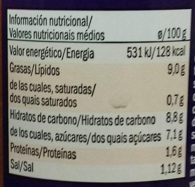 Salsa de curry Madrás - Informació nutricional - es