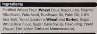 Sea salt crackers - Ingredients - en