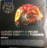 Luxury cherry & pecan topped christmas pudding - Produit
