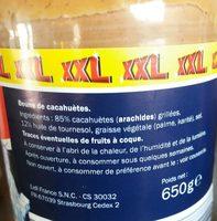 Peanut butter - Inhaltsstoffe