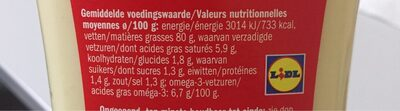 Mayonnaise avec oeuf traditionnelle - Nutrition facts - fr